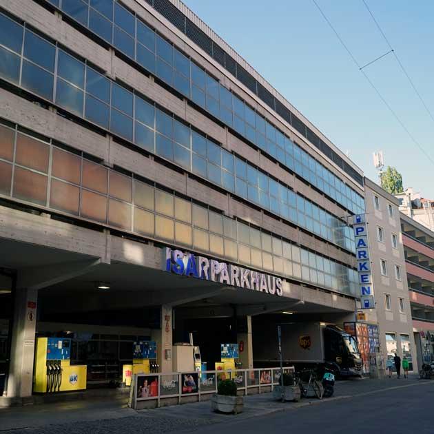 Hautarzt München Glockenbach - Parken im Isarparkhaus Baaderstr. 6